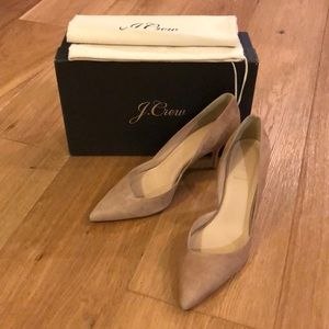 J Crew Colette Kitten Heels 9.5 Ashen Brown